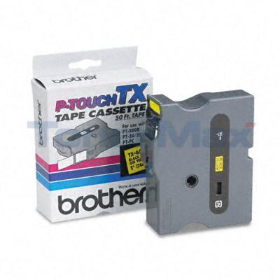 BROTHER P-TOUCH TAPE BLACK/YELLOW (24 MM X 15 M)